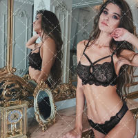 New Design Sexy Lace Lingerie 2pc in Red